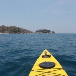 Kayaking towards Otter Point